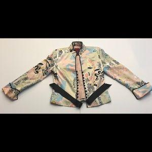 Asian floral jacket/ top